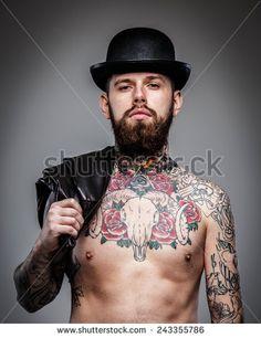 Tattoo Man Stockfoto's, afbeeldingen & plaatjes   Shutterstock