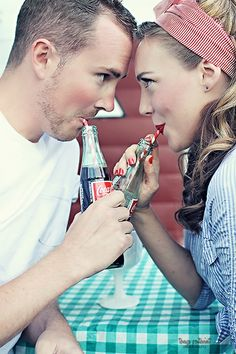 This is precious! Would make a great engagement photo Vintage Engagement Photos, Engagement Pictures, Engagement Shoots, Wedding Pictures, Couple Photography, Engagement Photography, Photography Poses, Wedding Photography, Rockabilly Couple