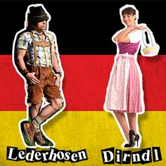 This is what traditional German people wear.This is what they used to wear and the German band still wears.