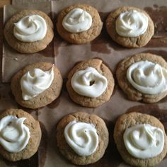 Cinnamon cookies with salted caramel frosting!