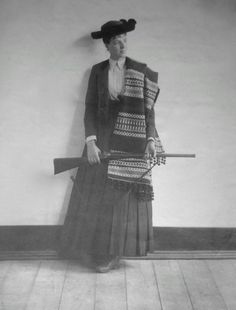 Amélie d'Orleans, Princess Royal of Portugal, in traditional costume. 1888.