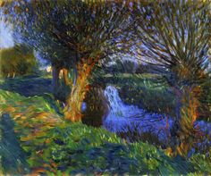 John Singer Sargent (USA, - At Calcot - 1888 - oil on canvas - Yale University Art Gallery, New Haven John Singer Sargent, Sargent Art, Monet, Beaux Arts Paris, Guache, Collaborative Art, Paintings I Love, Art For Art Sake, Famous Artists