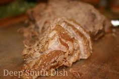 Deep South Dish: Oven Roasted Beef Rump Roast with Mushroom Gravy