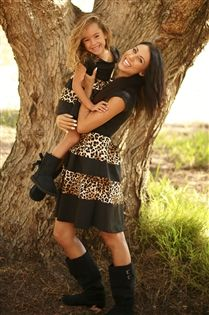 Animal print mommy and me matching dress in 12-18 months to women's 3XL