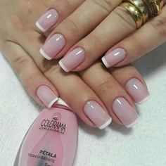Want some ideas for wedding nail polish designs? This article is a collection of our favorite nail polish designs for your special day. Read for inspiration French Nails, Nail Polish Designs, Nail Art Designs, Cute Nails, Pretty Nails, White Tip Nails, Wedding Nail Polish, Natural Nail Designs, Bride Nails