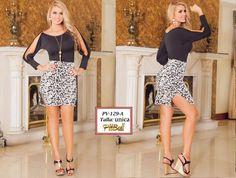 Vestido Colombianos PitBull +Modelos en: http://www.ropadesdecolombia.com/index.php?route=product/category&path=77  #vestido #corto #ropa #moda #verano #negro #fiesta #eventos #elegante #sexy #estampado #falda