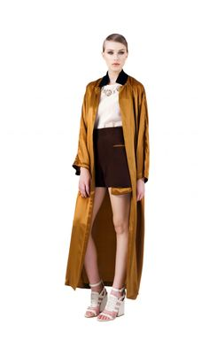 Trench / Rochie din matase Duster Coat, Normcore, Couture, Jackets, Style, Fashion, Haute Couture, Swag, Moda