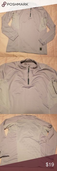 aba0e20cb9b4 Nike pro mens long sleeve Gray hyperwarm fitted pullover 28