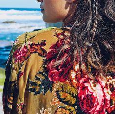Palm Desert Burnout Velvet Kimono Jacket by SunshineDreamerr