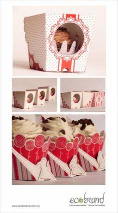box 3 Cupcake Packaging, Dessert Packaging, Bakery Packaging, Pretty Packaging, Brand Packaging, Design Packaging, National Cupcake Day, Food Engineering, Id Design