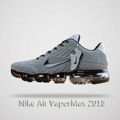 Nike Air Vapormax 2018 Men Running Shoes Gray Black Nike Shocks, Running Shoes 2017, Running Sneakers, Sneakers Nike, Sneakers Fashion, Mens Running, Running Shoes Nike, Nike Shoes For Sale, Nike Free Shoes
