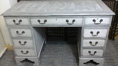 Desk painted in Frenchic chalk paint