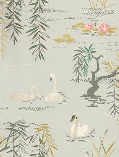 Swan Lake wallpaper by Nina Campbell