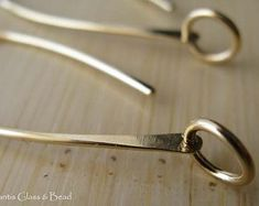 Artisan handmade earring wires. Sterling by AtlantisGlassAndBead