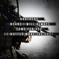 Military = Family = Unrivalled Bond for Life......