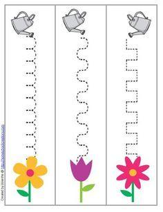 spring gardening writing patterns preschool printable