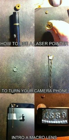 how to turn your camera phone into a macro lens