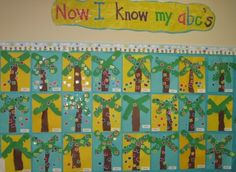 I'm doing this.  When students recognize a letter and sounds they put it on the coconut tree.  Assessment and decorative!
