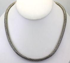 """Sterling Silver Round Wheat Chain 18"""""""