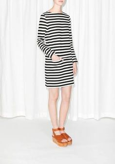 & Other Stories | Striped Cotton Dress | Off white #dress #women #covetme #stripe