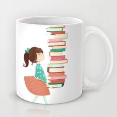 Library Girl Mug