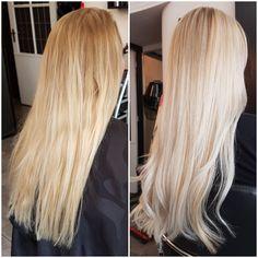 Highlights 👐 #hairdye #hairdo #blowdry #highlights #haircolor #hairstyling #hairinspiration #coloredhair #blonde #blondehair #platinumblonde #blondehairdontcare #matrixhair #matrixcolor #dyedhair #leeuwarden #transformation #makeover #longhair #wavyhair #hairtrend #haironpoint #hairgoals #newhair #beforeandafter #friesland