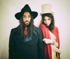 Sean Lennon and Charlotte Kemp Muhl of The Ghost of a Saber Tooth Tiger, in a publicity photo taken by the artists for their 2014 release, Midnight Sun Ringo Starr, John Lennon Beatles, The Beatles, George Harrison, Paul Mccartney, Kemp Muhl, Midnight Sun, Jack White, Him Band