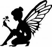 Fairy silhouette with Flower vinyl decal/sticker car truck ...