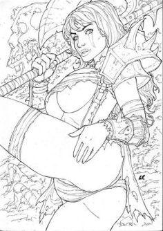 Varik, Queen of Barbarians by LCFreitas