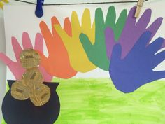 Pot of gold rainbow hand cut outs