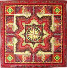 """Текстиль, ковры ручной работы. Ярмарка Мастеров - ручная работа. Купить Одеяло """"Ярмарка"""" 220х220см. Handmade. Лоскутное одеяло"""