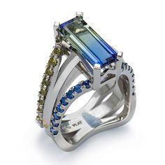 Bi-color Tanzanite Ring by Coffin & Trout <3 www.coffinandtrout.com