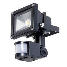 Outdoor LED Floodlight Security Light with Motion Sensor 40-Ft Detection Range