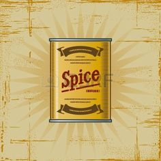 Retro Spice Can Stock Photo - 6582332