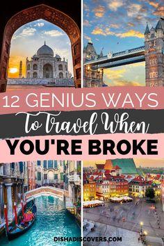 europe budget travel Is money stopping you from traveling Travel doesnt have to be expensive. Here are 12 genius tips that you can use to travel on a budget. Budget travel tips Asia Travel, Solo Travel, Travel Usa, Wanderlust Travel, Sweden Travel, Europe Travel Tips, Train Travel, Ways To Travel, Travel Hacks