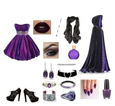 """""""The witch in the shadows"""" by mid-night-moon-light ❤ liked on Polyvore featuring Valentino, Estée Lauder, Journee Collection, Wet Seal, Alexis Bittar, Brighton, NOVICA and OPI"""
