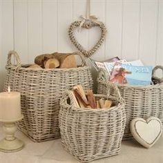 ♥ would make great beach house baskets!