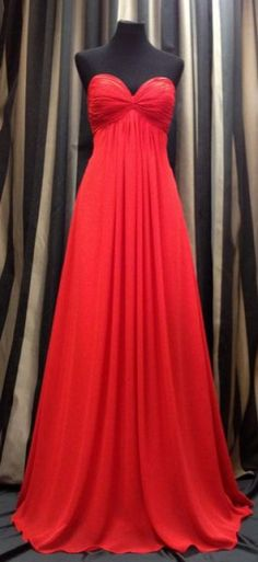 red bridesmaid dress by Skarr Bridal.... could be an awesome recital gown!