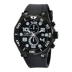 Cool Invicta Men's Pro Diver Quartz Watch with Black Dial Chronograph Display and Black PU Strap 15397 just added...  Check it out at: https://buyswisswatch.co.uk/product/invicta-men-s-pro-diver-quartz-watch-with-black-dial-chronograph-display-and-black-pu-strap-15397/