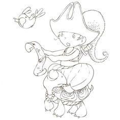 Cahier de coloriage Cap Canaille Gabin le Pirate - 80 pages