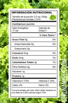 lechuga información nutricional Kiwi, Parsley, Herbs, Flat Abs, Flat Tummy, Lettuce, Cholesterol, Trans Fat, Weight Loss Diets