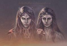 Аредэль и Маэглин  Child of the Twilight - Maeglin and Aredhel by Ladyoftheflower on DeviantArt