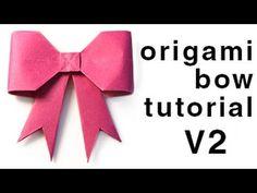 Origami Bow Tutorial - Paper Kawaii