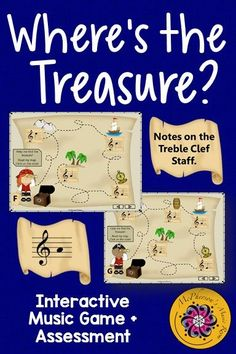 Fun interactive Treble Clef Note Name game! Your elementary music classes will be talking like a pirate and reading note names after playing this interactive music game. Great Orff and Kodaly activity! Teach Like A Pirate, General Music Classroom, Music Education Activities, Elementary Music Lessons, Teaching Music, Music Teachers, Music Lesson Plans, Music Games, Music Mix