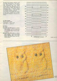 für die, die stricken - Eulenstrickjacke - Вязания спицами и крючком схемы, Strickschema, Knitting Pattern - Owl Knitting Pattern, Baby Boy Knitting Patterns, Knitting Charts, Knitting Stitches, Diy Crafts Knitting, Diy Crafts Crochet, Knitted Owl, Knit Crochet, Owl Sweater