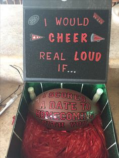 Homecoming proposal for cheerleader