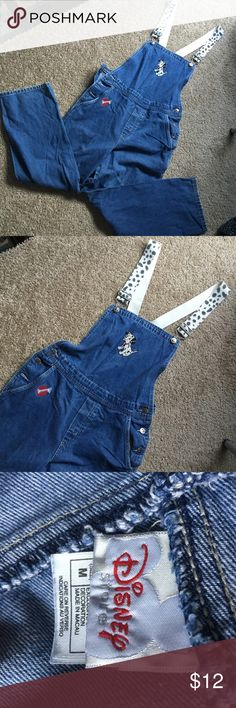 Vintage Disney Overalls authentic 101 Dalmatians design!! make an offer :) Disney Pants Jumpsuits & Rompers