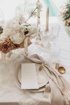 Ivy & Bleu Events Best Wedding Planners in Molendinar | Wedding Chicks Beige Wedding, Floral Wedding, Rustic Wedding, Dream Wedding, Our Wedding, Neutral Wedding Decor, Neutral Wedding Flowers, Decor Wedding, Reception Decorations