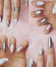 Marmol nails. #Uñas #Style