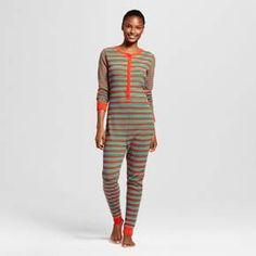 Women's Striped Union Suit Pajamas : Target